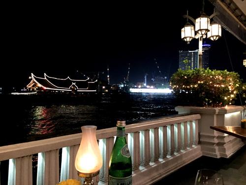 View from The Riverside Terrace Mandarin Oriental Bangkok