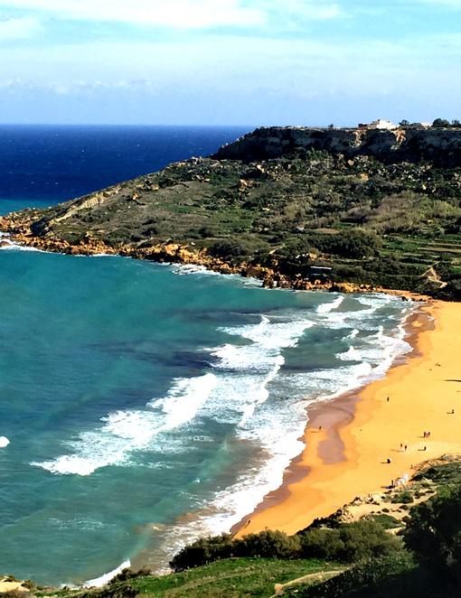 The beach on Gozo island