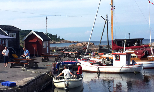 harbour with fishing boats on Bornholm