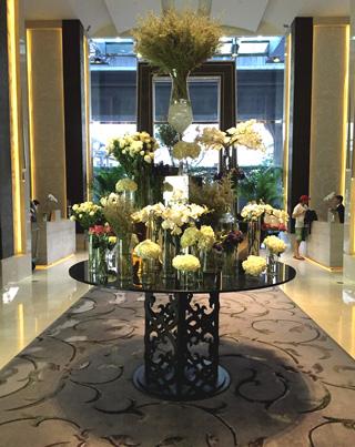 Flower display at the lobby of St. Regis Bangkok
