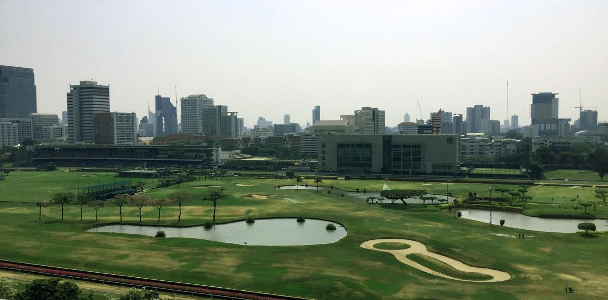 view of the royal Bangkok sports club from st regis Bangkok