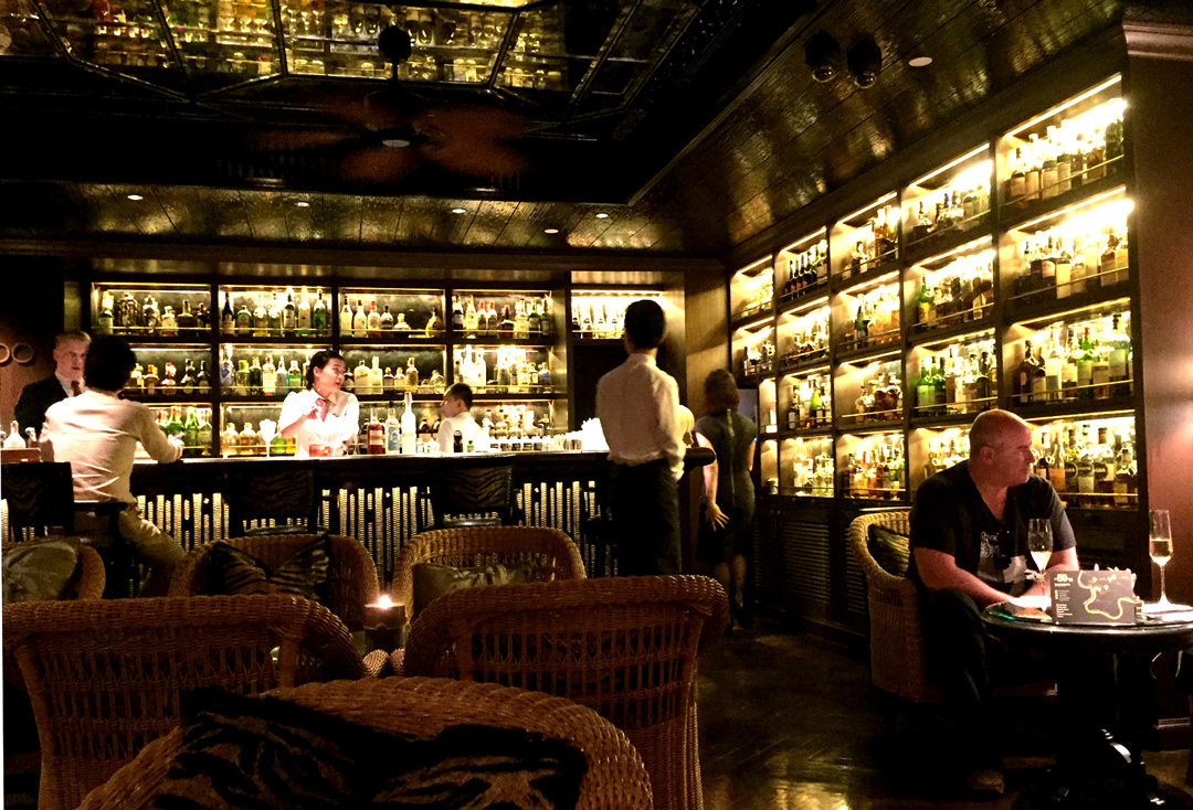 Inside the Bamboo Bar at Mandarin Oriental Bangkok