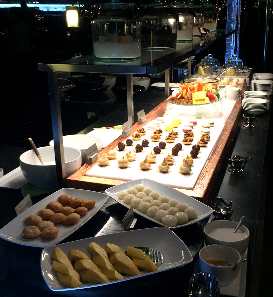 Desserts at the Riverside Terrace Mandarin Oriental Bangkok