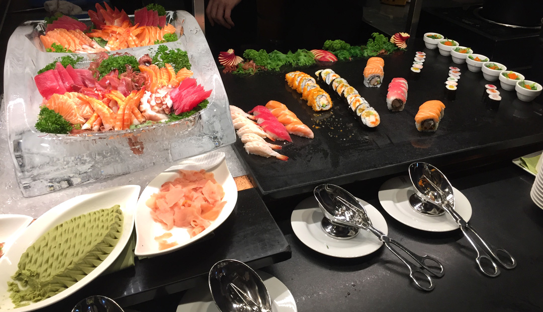 Sushi buffet at the Riverside Terrace Mandarin Oriental Bangkok