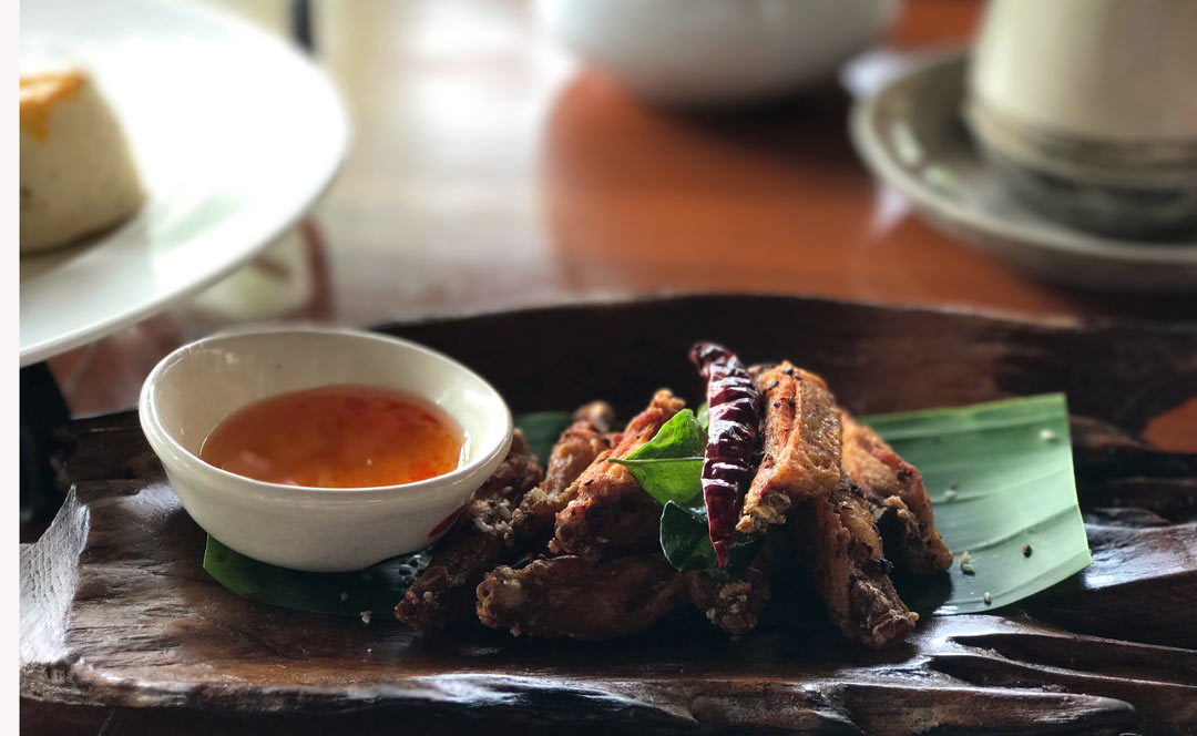 chicken wings served at Four Seasons Chiang Mai
